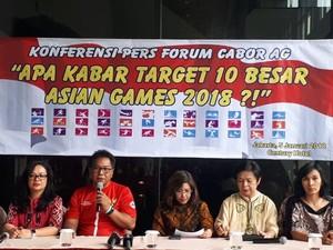 5 PB di Forum Cabor  Pertanyakan Pemangkasan Anggaran Asian Games 2018