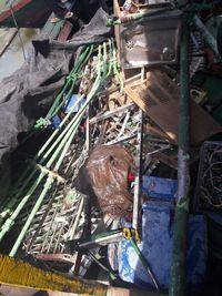 Besi-besi tua yang dicuri dari Kapal LPG