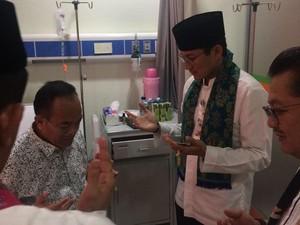 Di RSUD Budhi Asih, Sandi Juga Jenguk Walkot Jaktim yang Sakit Diare