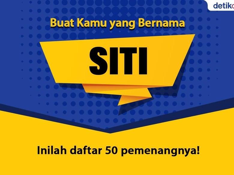Ini 50 Siti yang Dapat Hadiah dari Menteri Siti