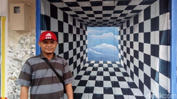 Salah satu lukisan yang dibuat warga