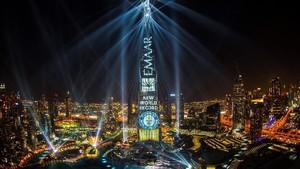 Pertunjukan Cahaya Saat Tahun Baru di Dubai Pecahkan Rekor Dunia