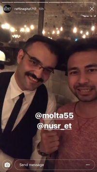 Ke Abu Dhabi, Raffi Ahmad dan Nagita Slavina Makan di Restoran Salt Bae