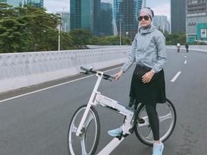 Intip Para Selebgram Hijab Saat Melakukan Olahraga