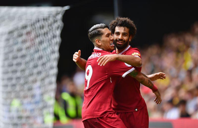 Pemain ini merupakan ujung tombak Liverpool. Pergerakan Roberto Firmino di lini depan bersama Mane dan Salah, disebut sebagai trisula maut (Alex Broadway/Getty Images)