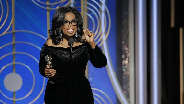 Oprah Winfrey Terima Lifetime Achievement di Golden Globe 2018