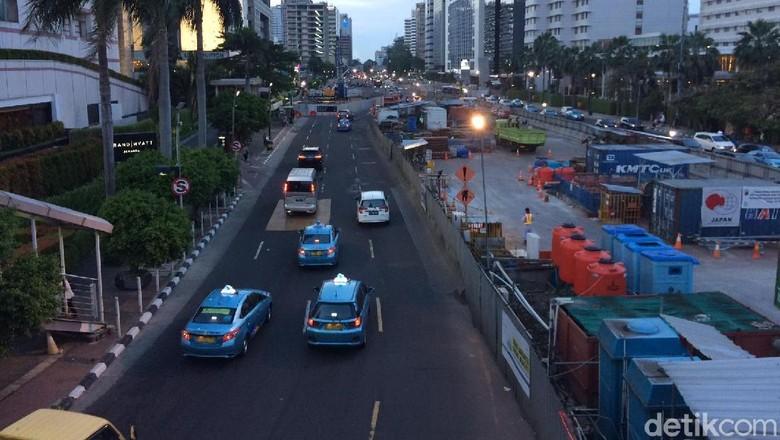 Kondisi Jl Thamrin yang Sebentar Lagi Bakal Kembali Dihadiri Pemotor