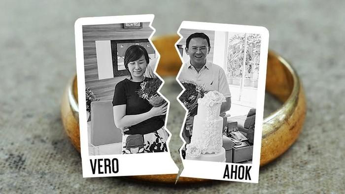 Ilustrasi Ahok dan Vero (Andika Akbaryansyah/detikcom)