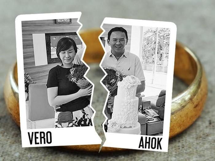 Foto: Ilustrasi Ahok dan Vero/Andika Akbaryansyah
