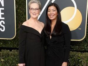 Para Bintang Hollywood Ramai-ramai Kenakan Hitam di Golden Globe 2018