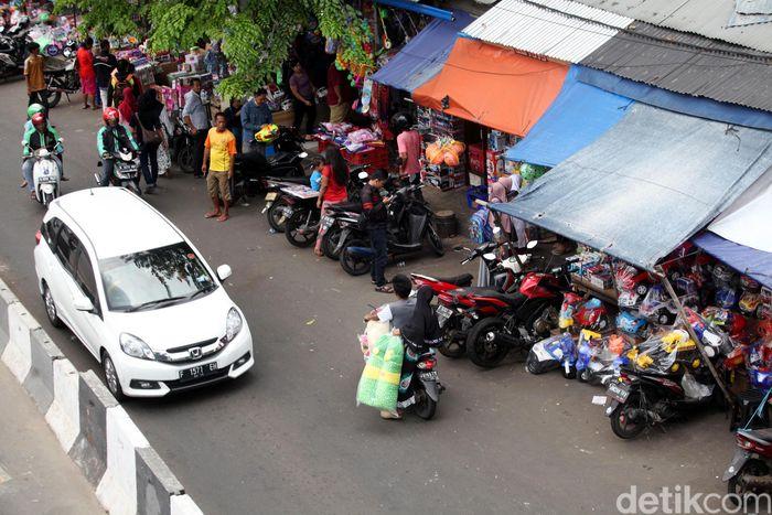 Suasana terkini Pasar Gembrong yang akan digusur, Senin (8/1/2018).