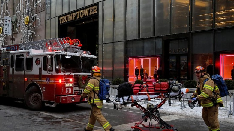 Putra Trump Sebut Kebakaran di Trump Tower dari Menara Pendingin