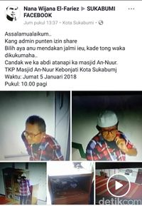 Viral Aksi Pria Gaek Bongkar Kotak Amal di Sukabumi