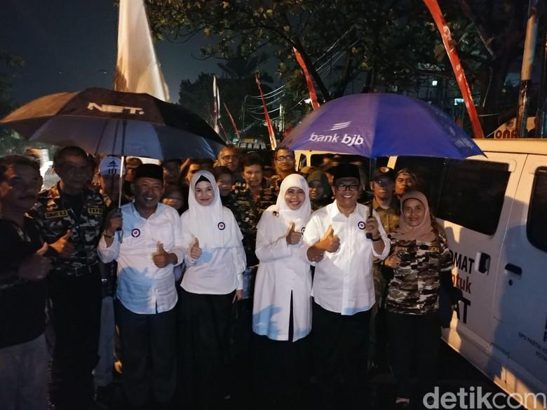 Daftar Pilwalkot Bandung, Oded-Yana Disambut Guyuran Hujan