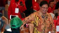 Ketum Partai Golkar Airlangga Hartarto juga menghadiri HUT PDIP bertema Pancasila Bintang Penuntun Indonesia Raya.