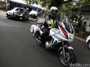 Sakit Melanda, Tugas Polisi Patwal Terus Berjalan