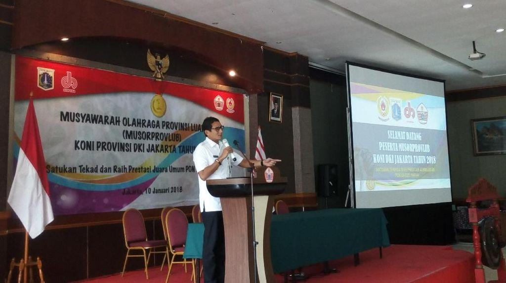 Buka Musyawarah Olahraga, Sandi Minta KONI DKI Sukseskan Asian Games