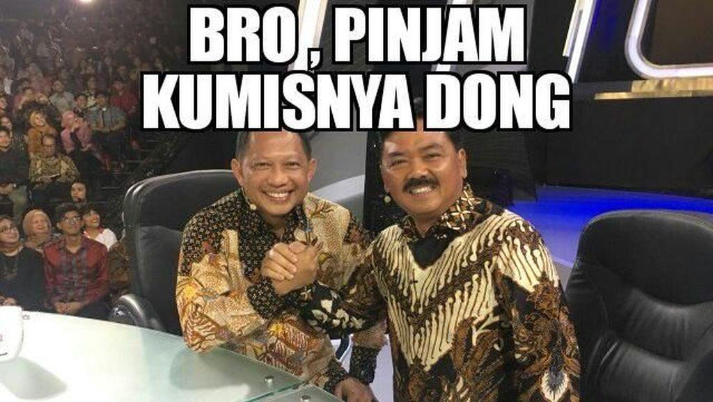 Meme Lucu Kapolri dan Panglima TNI Saat #MataNajwaPerdanaDiTrans7