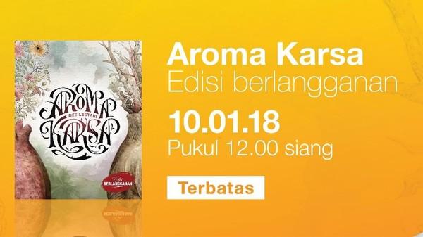 Menegangkan, Pre Sale Novel Aroma Karsa Sudah Dibuka