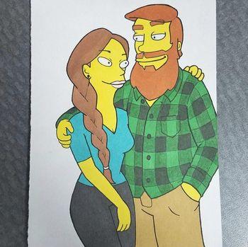 Pasangan Kekasih Ini Seperti 'The Simpsons' hingga 'Dragon Ball Z'