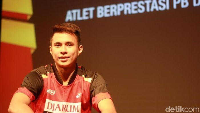 Ikhsan Leonardo Imanuel Rumbay jadi atlet muda terbaik PB Djarum.  (Femi Diah/detikSport)