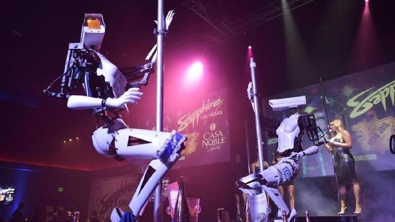 Foto: Robot penari striptis di Las Vegas (AFP/Getty Images)