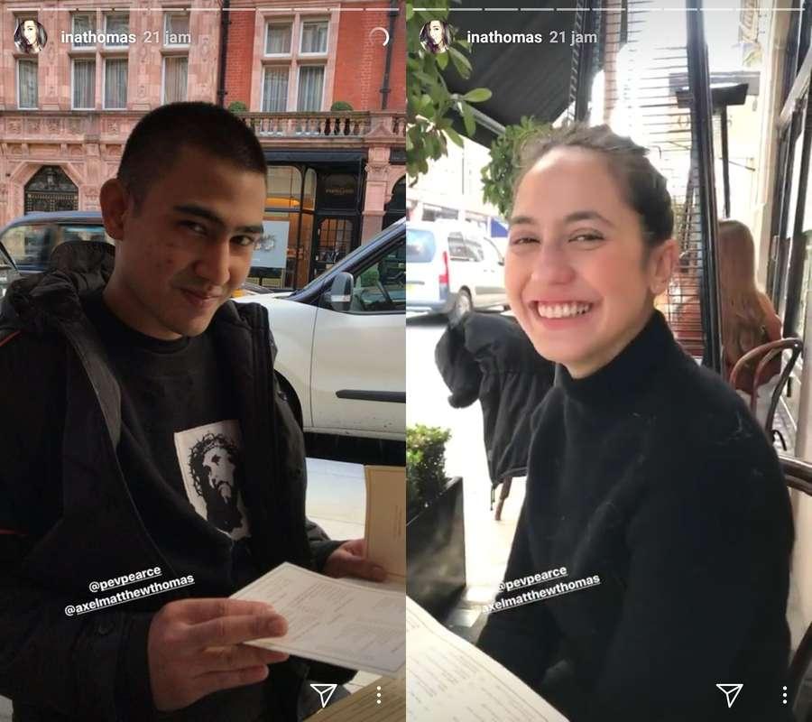 Momen Mesra Pevita dan Axel Matthew di London