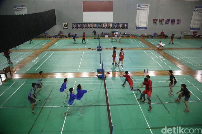 Begini Suasana Latihan Pelatnas PBSI di Cipayung, Jumat (12/1/2017) di Cipayung, Jakarta Timur.