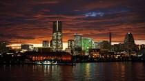 Saat Matahari Terbenam di Yokohama