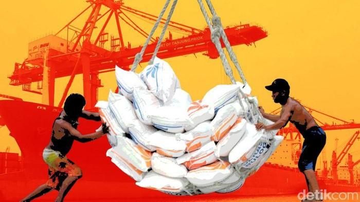 RI Impor  beras 500.000 ton dari Thailand dan Vietnam
