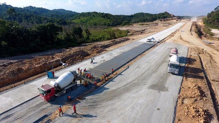 Begini penampaka terkini proyek pembangunan Jalan Tol Balikpapan-Samarinda. Dok. Jasa Marga.