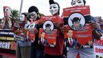Koalisi Aksi Mahasiswa dan Pemuda untuk Pemerintah Bersih Demo di Depan Istana