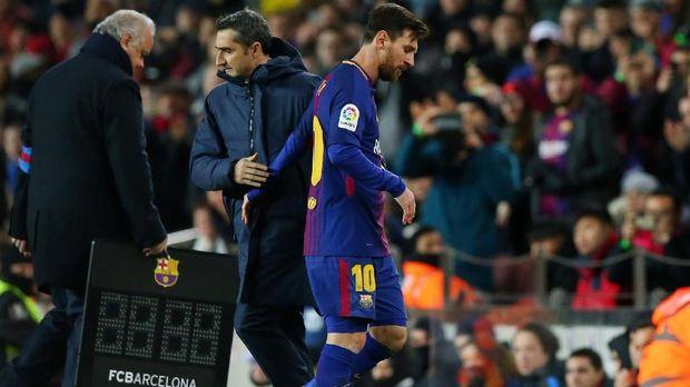 Ernesto Valverde tidak khawatir Lionel Messi cedera jelang Piala Dunia 2018.