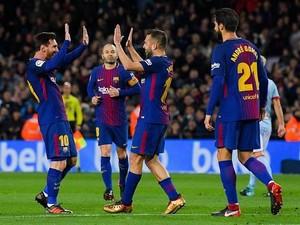 Messi Dua Gol, Barca Kalahkan Celta 5-0 dan Lolos ke Perempatfinal