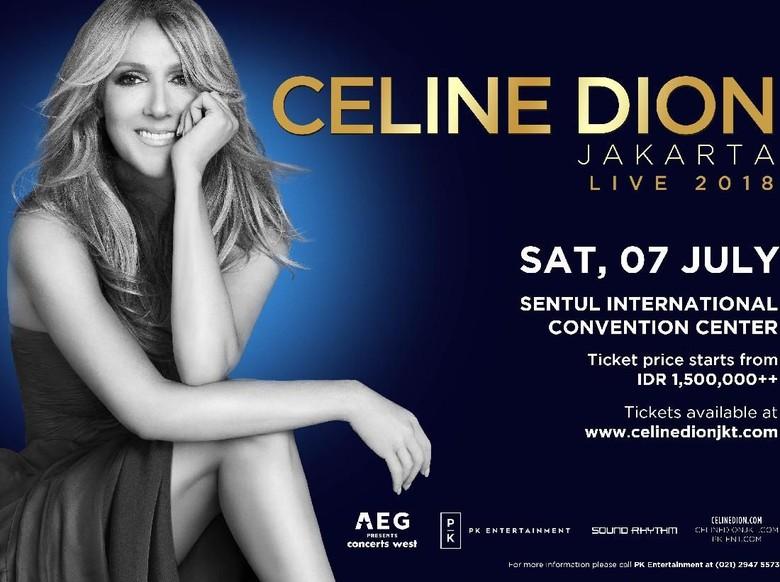 Catat! Penjualan Tiket Konser Celine Dion Dibuka Mulai 19 Januari 2018