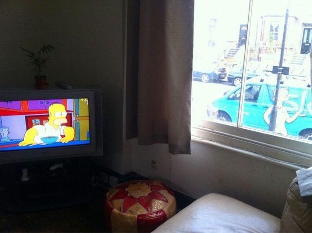 Pertemuan langka Homer dan Marge.Foto: Internet