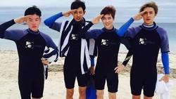 Wajah tampan dan tubuh tinggi saja tidak cukup bagi Park Chanyeol untuk menarik perhatian penggemarnya. Lewat akun Instagramnya, ia pun memamerkan kegemarannya pada beragam jenis olahraga.