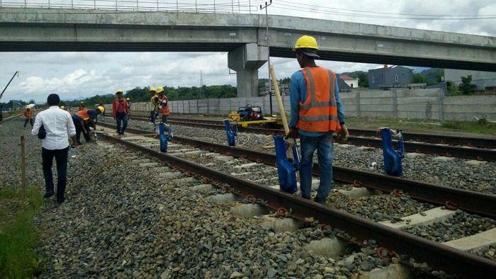 Proyek kereta Trans Sulawesi untuk rute Makassar-ParepareFoto: Pool