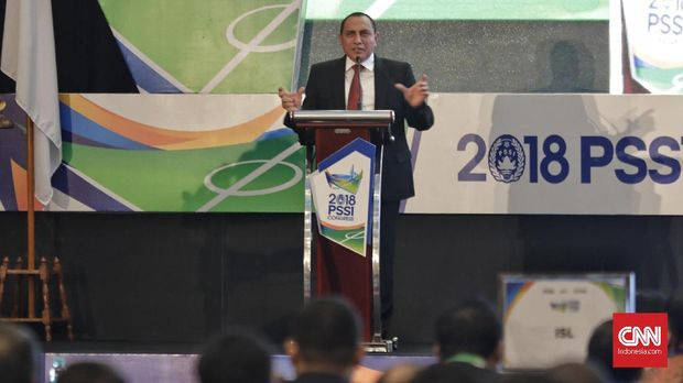 Edy Rahmayadi memimpin PSSI sejak 2016.