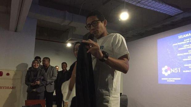 Sandiaga menolak pemberian celana dari peserta program OK OCE.
