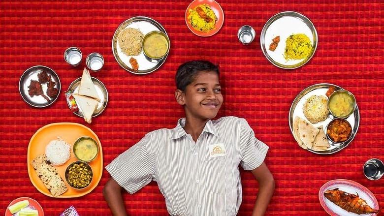 Dokumentasi makanan anak/ Foto: Gregg Segal