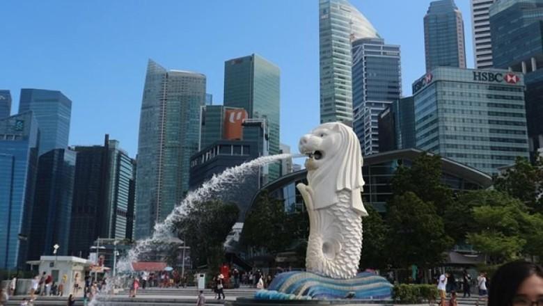 Merlion di Singapura (Rafika Aulia/dTraveler)
