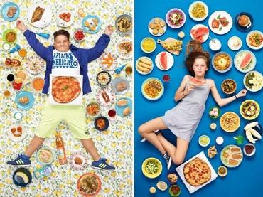 Gregg mempunyai ide mendokumentasikan apa yang dimakan anak-anak selama seminggu karena ia concern pada tingkat obesitas yang meningkat. (Foto: Gregg Segal Via Time Magazine)