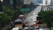 Ada Proyek LRT, Flyover Pancoran Arah Slipi Tutup Malam Hari