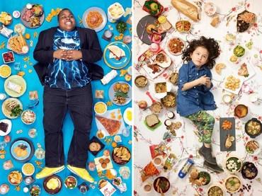 Gregg Segal adalah fotografer yang mempunyai ide untuk mendokumentasikan yang anak-anak ini makan selama seminggu. (Foto: Gregg Segal Via Time Magazine)