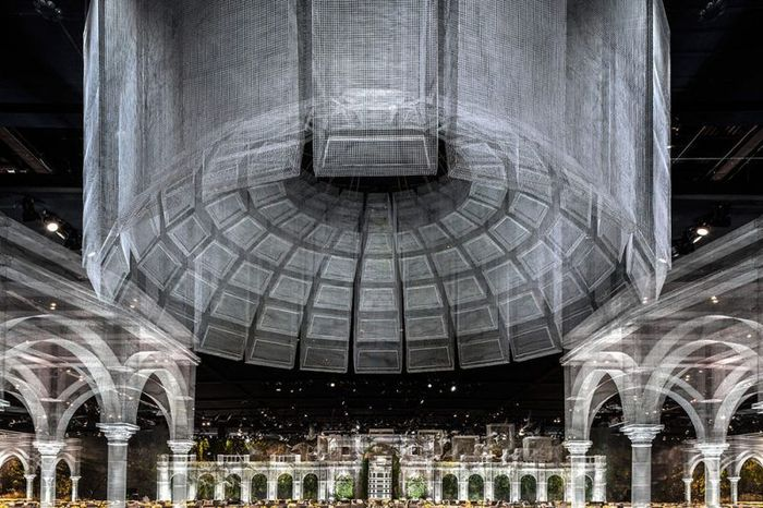 Arsitek ini berhasil membuat bangunan monumental kerajaan dengan bahan seperti kawat. Karyanya ini dipamerkan dalam sebuah acara yang berlangsung di Abu Dhabi. Istimewa/Broadsheet.