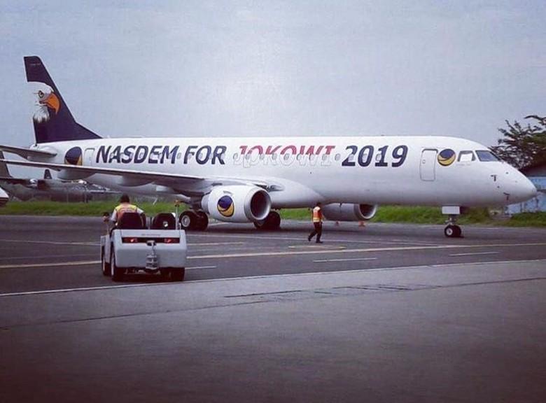 Pesawat NasDem for Jokowi 2019 untuk Operasional Kampanye