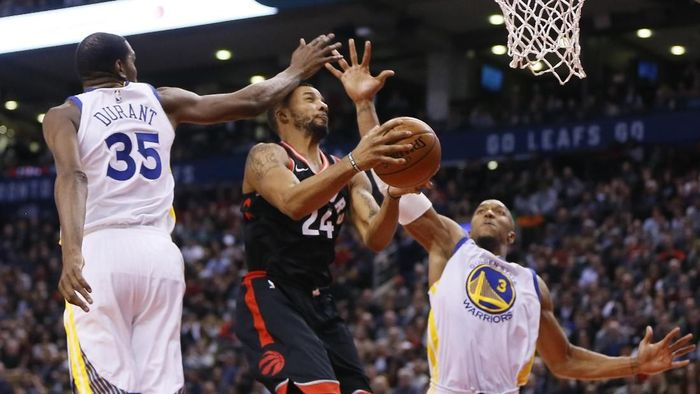 Golden State Warriors menang 127-125 atas Toronto Raptors (Foto: John E. Sokolowski-USA TODAY Sports)
