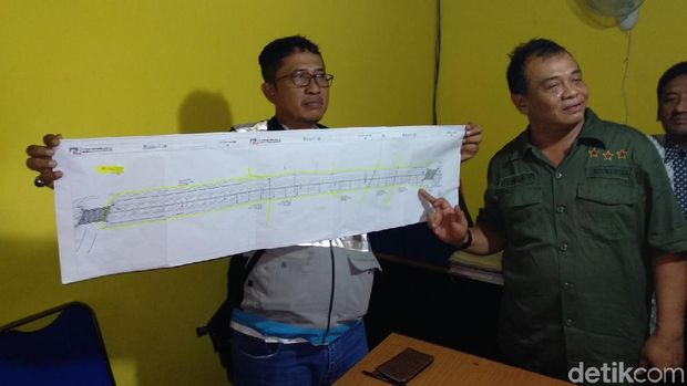 PPK Kementrian PUPR tunjukkan gambar proyek tol/