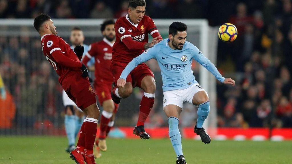 7 Pencetak Gol Liverpool Vs Man City di Musim Lalu